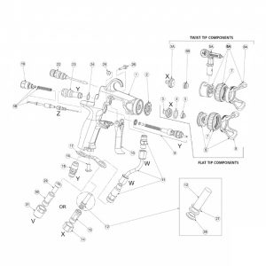 Spray Tips and Holders for Spray Guns - Graco, Binks, Q-Tech, TriTech